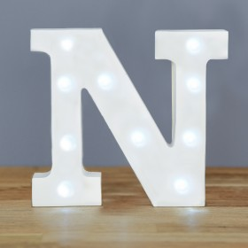 Letter N LED Up In Lights