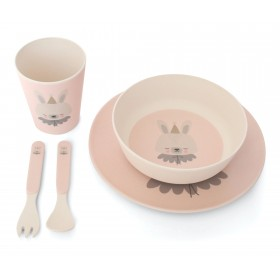 Bamboo Eco Dinner Set Circus Bunny Eef Lillemor