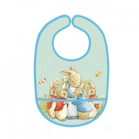 PVC Coated Bib Green Peter Rabbit Petit Jour