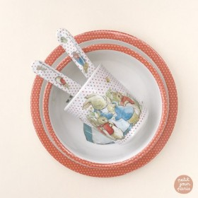 Peter Rabbit Dinner Set Red Petit Jour