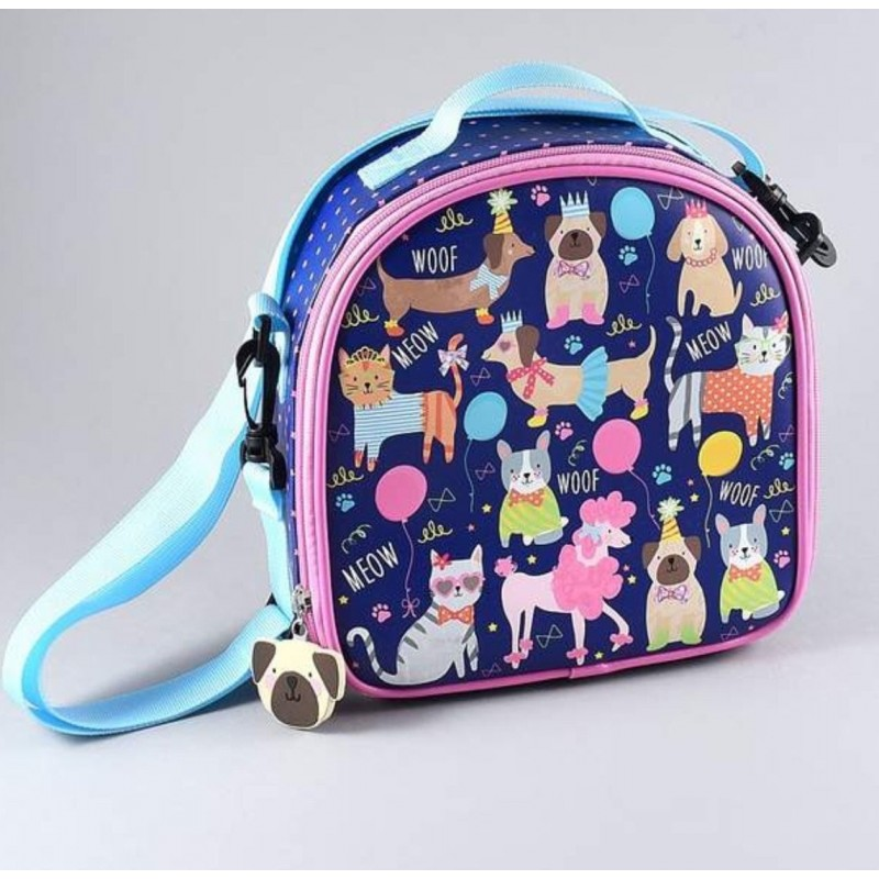 Insulated Lunch Bag Pets Floss & Rock