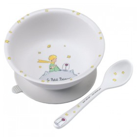 Suction Bowl Little Prince White Petit Jour
