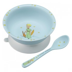Suction Bowl Little Prince Light Blue Petit Jour