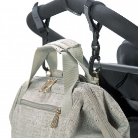 Diaper Backpack Goldie Grey Lässig