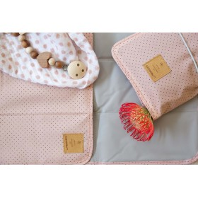 Changing Pouch Dots Rose Lässig