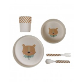 Bamboo Eco Dinner Set Lion Eef Lillemor