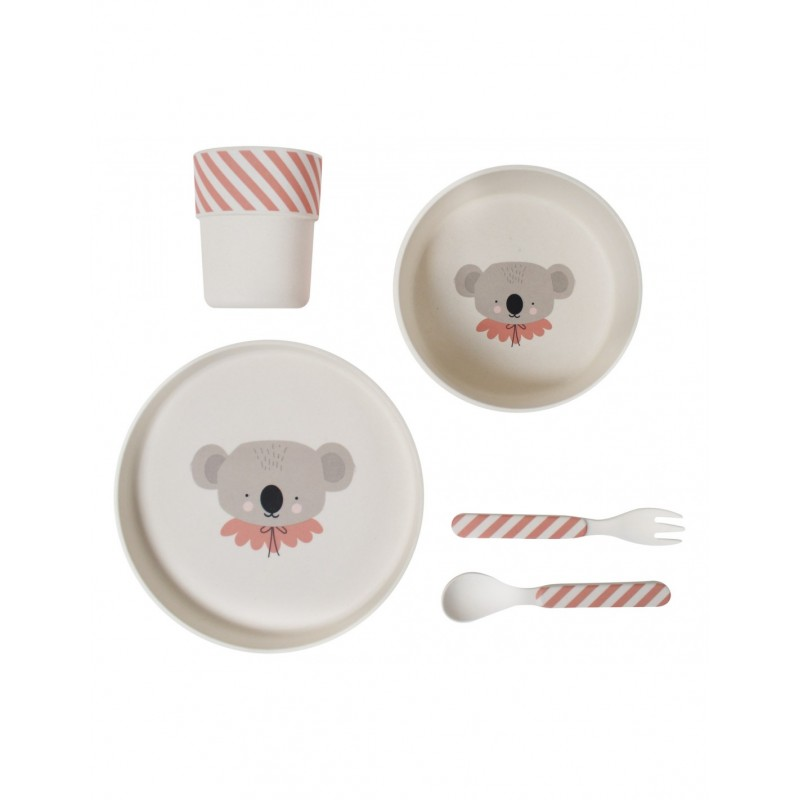 Bamboo Eco Dinner Set Koala Eef Lillemor