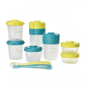 First Meal Set Blue/Green Béaba