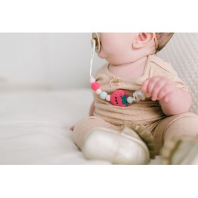Pacifier Clip Silicone Strawberry Loulou Lollipop