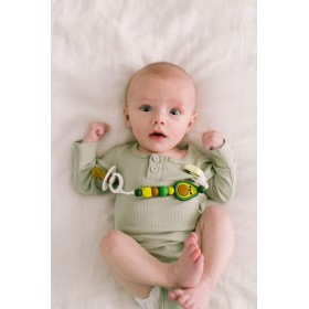 Pacifier Clip Silicone Avocado Loulou Lollipop