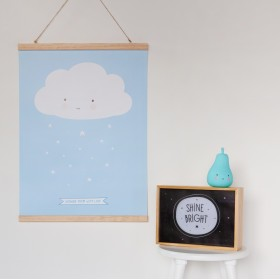 Poster Cloud Blue A Little Lovely Company