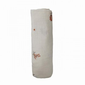 "Muslin Swaddle ""Flowers"" Mushie"