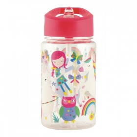 Water Bottle Rainbow Floss & Rock