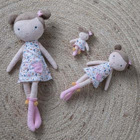 Cuddle Doll Rosa 10cm Little Dutch