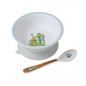 Suction Bowl White Peter Rabbit Petit Jour