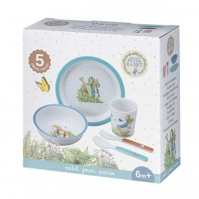 Peter Rabbit Dinner Set Blue Petit Jour