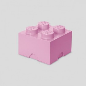 LEGO Storage Brick (4) Light Pink