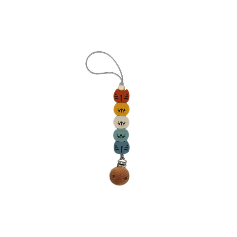 Silicone Pacifier Clip Zoo I