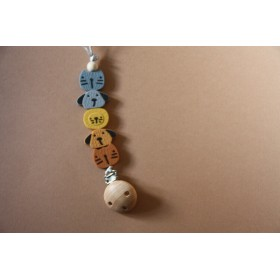 Silicone Pacifier Clip Zoo II