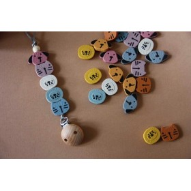 Silicone Pacifier Clip Zoo IV