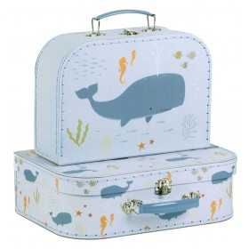 Suitcase Set Ocean A Little Lovely Company